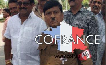 Индийский политик пришел на заседание парламента в образе Гитлера